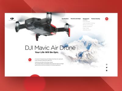 Web Page. DJI Mavic Air Drone