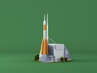 Lowpoly. Rocket. Samara