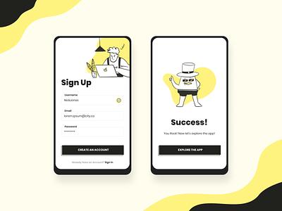 Daily UI 01 - Sign Up ui illustration design signup dailyui