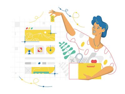 Create a web site v1.1 website product webdesign ui character design design illustration