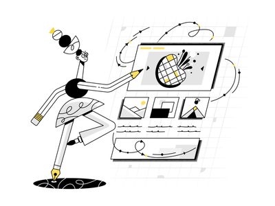 Create a web site v1.2 webdesign product ui character design design illustration