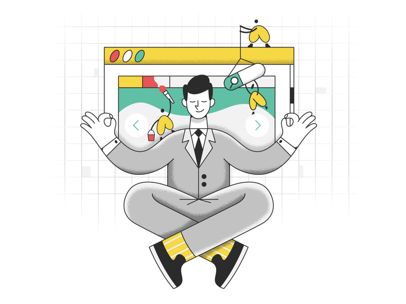 Be successful! success webdesign product ui character design design illustration