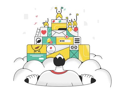 Welcome back! webdesign product ui character design design illustration