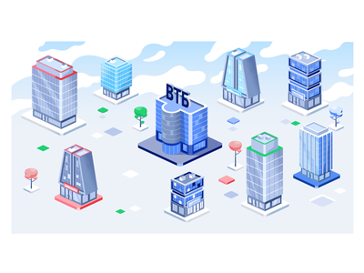 Isometric buildings! isometric isometric illustration webdesign product ui character design design illustration