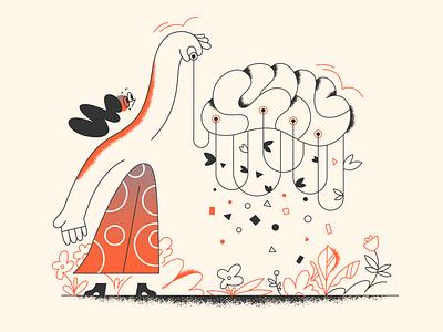 Programming your brain! programming webdesign product ui character design design illustration