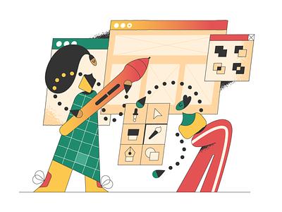 Design! work in progress webdesign product vector ui character design design illustration