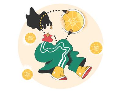 Fatal error! lemon lemons error webdesign vector ui character design design illustration