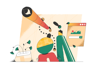 Searching! searching webdesign product vector ui character design design illustration