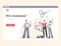 Hire employees! employees hire webdesign product vector ui character design design illustration