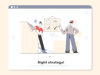 Right strategy! strategy webdesign product vector ui character design design illustration