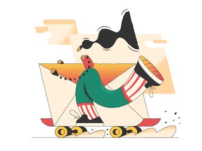 Message sent! sent message webdesign product vector ui character design design illustration