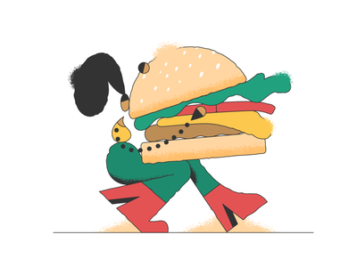 Delivery! webdesign website burger delivery product vector ui character design design illustration