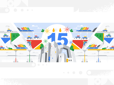 Happy birthday google maps! webdesign product vector ui character design design illustration