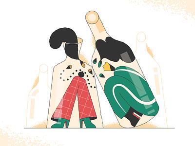 Bad Gateway bottles gateway webdesign product vector ui character design design illustration
