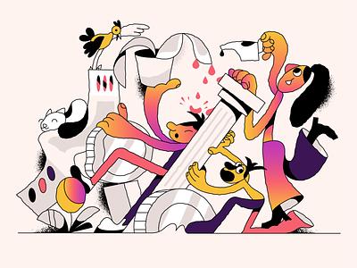 Kind of mess! webdesign product vector ui character design design illustration