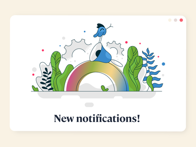 New notifications! webdesign product vector ui character design design illustration