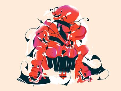 Red dragons! webdesign product vector ui character design design illustration