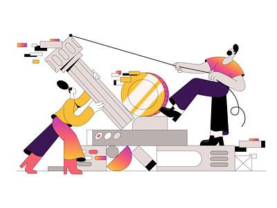 Making a bank! webdesign product vector ui character design design illustration