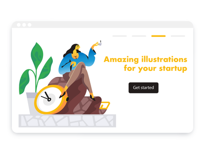 Waiting! webdesign product vector ui character design design illustration