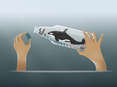 Save The Ocean! webdesign product vector ui character design design illustration