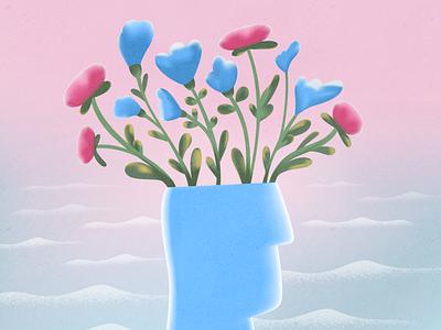 Blooming mind! webdesign product vector ui character design design illustration