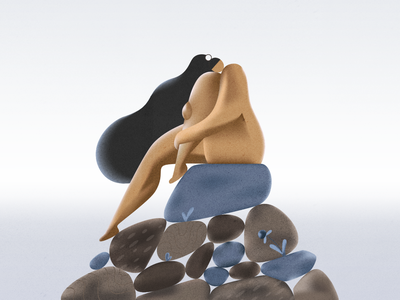 Loneliness webdesign product vector ui character design design illustration