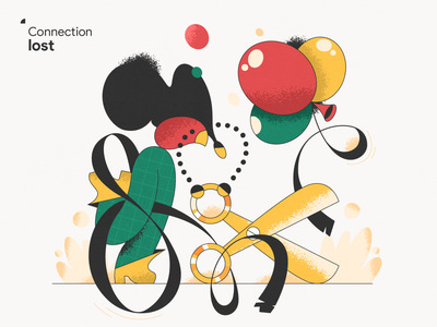 Connection lost! webdesign product vector ui character design design illustration