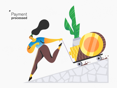 Payment processed! webdesign product vector ui character design design illustration