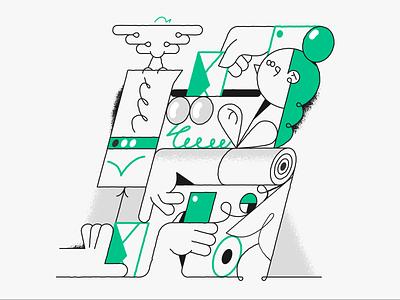 Message send! webdesign product vector ui character design design illustration