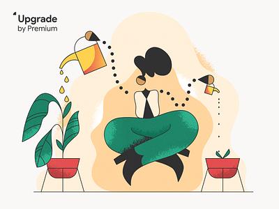 Upgrade by Premium! webdesign product vector ui character design design illustration