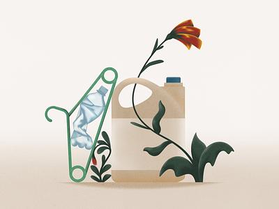 Plastic pollution! webdesign product vector ui character design design illustration