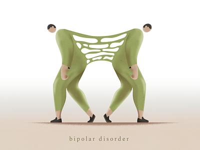 Bipolar disorder webdesign product vector ui character design design illustration