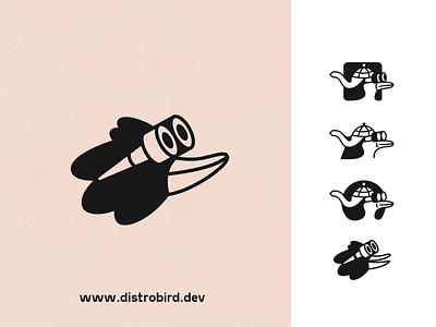 Distrobird logo design webdesign product vector ui character design design illustration