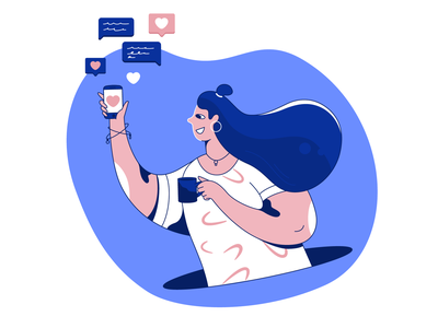 Like! Like! Like! designer character 2d design app illustration smartphone commets motion ui design like likes web illustration magazine illustration interface illustration ui illustration ui flat character design design illustration vector