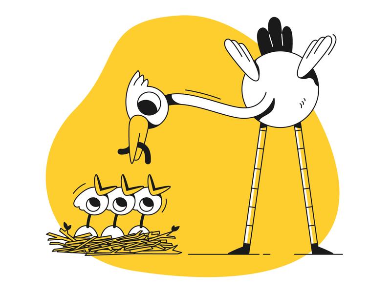 Delivery 2d art ui  ux design bird illustration birds illustrator 2d design branding ui character design designer 2d character character charachters web illustration app illustration ui illustration flat design illustration vector