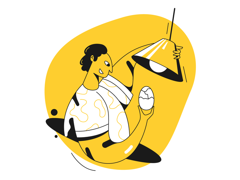 Coming soon! web design illustrator designer egg lamp coming soon web illustration app illustration 2d design ui illustration charachters character design flat vector character design illustration