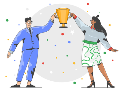 Success! celebration bussiness success team character design charachters web design flat ui illustration web illustration app illustration illustrator illustrations character website ui 2d character vector illustration