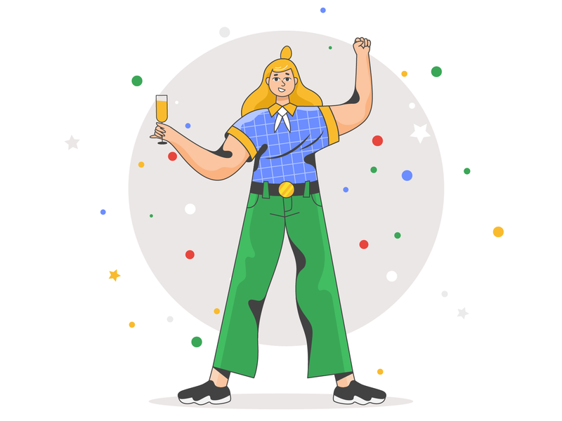 Successful manager! success successful website ui product flat designs design vector illustration character design character