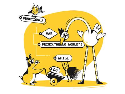 Programming! programing website ui product illustration design character design