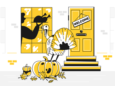 Welcome! welcome turkey pinky thanksgiving product webdesign ui design character design illustration
