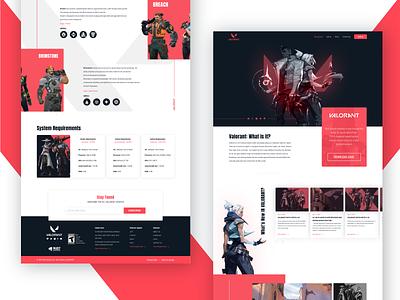 VALORANT - Website Redesign Concept game website landing page website design game valorant figma redesign concept interface ui web desgin interface uiux creative  design