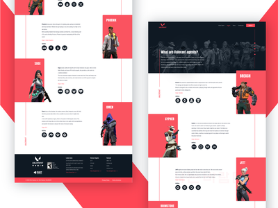 VALORANT - Agents website game website figmadesign ux interface redesign concept creative design web desgin interface uiux creative  design