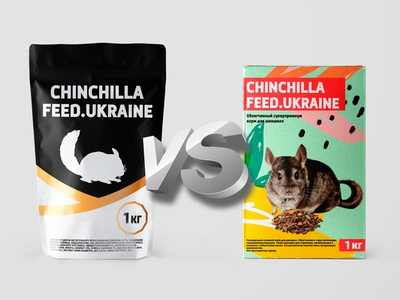 Chinchilla`s Food | Packing illustration brand brand design packing design package design choose challenge zoo animal food packaging design vector concept