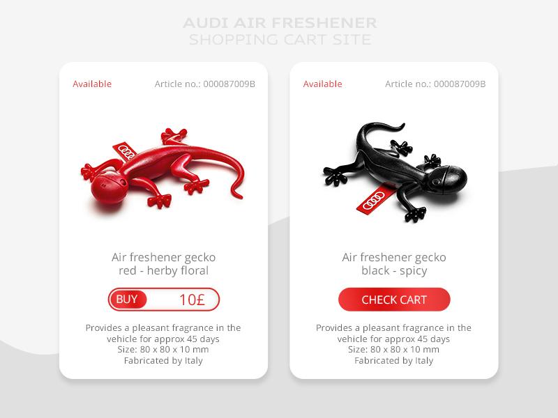 Shopping Cart for Audi Genuine Accessories accessories gecko cart webdesign website ux  ui simple air design site audi shopping concept