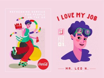 MR LEO N. concept design branding purple logo illustration art energy typography ui ux logo design character vector illustrator restaurant coca-cola coke