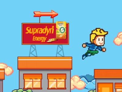 Supradyn Energy Fast Action 8-bit Animation Movie pixel 8bit vector cartooning 2d animation character illustration