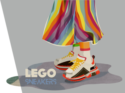 Lego Sneakers LOVES COLORS :)