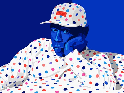 The Creator portrait pattern fashion swag colours dots tyler tyler the creator illustration create