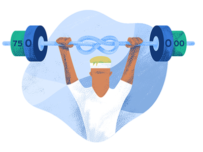 GoCardless Gym Membership Illustration illustration