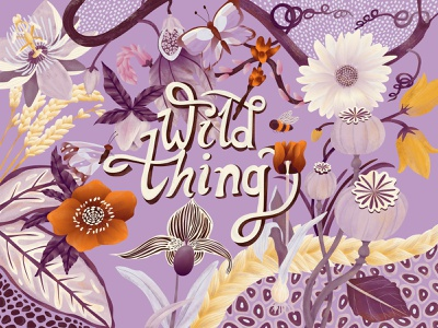 Wild thing drawing wild vibes botanical flowers design illustration
